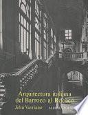 Descargar el libro libro Arquitectura Italiana Del Barroco Al Rococó