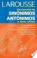 Descargar el libro libro Diccionario De Sinónimos, Antónimos E Ideas Afines