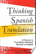 Descargar el libro libro Thinking Spanish Translation