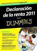Descargar el libro libro Declaración De La Renta 2011 Para Dummies