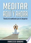 Descargar el libro libro Meditar Aquí Y Ahora. Técnica De Meditación Para Tu Despertar.