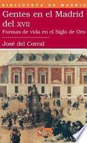 Descargar el libro libro Gentes En El Madrid Del Xvii