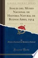 Descargar el libro libro Anales Del Museo Nacional De Historia Natural De Buenos Aires, 1914, Vol. 25 (classic Reprint)