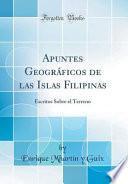 libro Apuntes Geográficos De Las Islas Filipinas