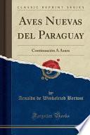 libro Aves Nuevas Del Paraguay