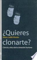 Descargar el libro libro ¿quieres Clonarte?