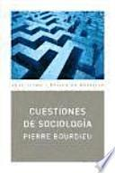 Descargar el libro libro Cuestiones De Sociología