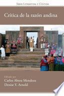 libro Crítica De La Razón Andina