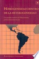 Descargar el libro libro Homogeneidad Dentro De La Heterogeneidad