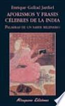 libro Aforismos Y Frases Célebres De La India