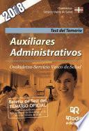 libro Auxiliares Administrativos. Osakidetza Servicio Vasco De Salud. Test Del Temario