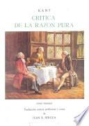libro Crítica De La Razón Pura
