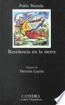 libro Residencia En La Tierra