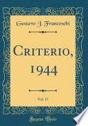 Descargar el libro libro Criterio, 1944, Vol. 17 (classic Reprint)