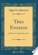 libro Tres Ensayos