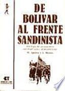 libro De Bolívar Al Frente Sandinista