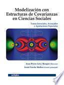 libro Modelización Con Estructuras De Covarianzas En Ciencias Sociales