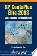 libro Sp Contaplus Élite 2008. Contabilidad Informatizada