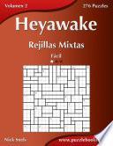 libro Heyawake Rejillas Mixtas   Fácil   Volumen 2   276 Puzzles