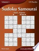 libro Sudoku Samurai   De Fácil A Experto   Volumen 1   159 Puzzles