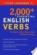 Descargar el libro libro 2,000 Plus Essential English Verbs
