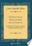 Descargar el libro libro Consultas Al Diccionario De La Lengua