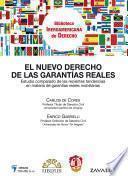 libro El Nuevo Derecho De Las Garantías Reales