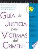 Descargar el libro libro Guía De Justicia Para Víctimas Del Crimen