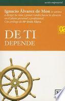 Descargar el libro libro De Ti Depende