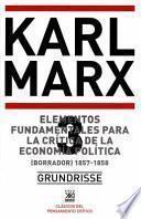 libro Elementos Fundamentales Para La Crítica De La Economía Política. Vol. 3