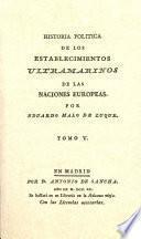 libro Historia Política De Los Establecimientos Ultramarinos De Las Naciones Europeas
