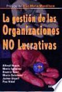 libro La Gestión De Las Organizaciones No Lucrativas