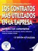 libro Los Contratos Más Utilizados En La Empresa
