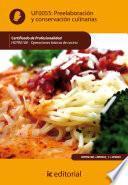 Descargar el libro libro Preelaboración Y Conservación Culinarias. Hotr0108