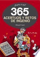 libro 365 Acertijos Y Retos De Ingenio