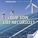 Descargar el libro libro ¿qué Son Los Recursos? (what Are Resources?)