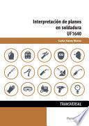 libro Uf1640   Interpretación De Planos En Soldadura