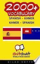libro 2000+ Spanish   Khmer Khmer   Spanish Vocabulary