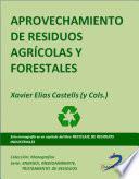 libro Aprovechamiento De Residuos Agricolas Y Forestales