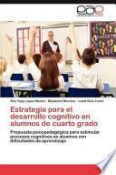 libro Estrategia Para El Desarrollo Cognitivo En Alumnos De Cuarto Grado
