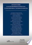 libro Estudios Sobre La Ley De Propiedad Intelectual. Últimas Reformas Y Materias Pendientes
