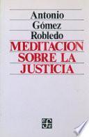 libro Meditación Sobre La Justicia