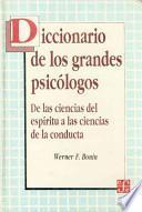 Descargar el libro libro Diccionario De Los Grandes Psicólogos