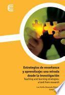 libro Estrategias De Enseñanza Y Aprendizaje: Una Mirada Desde La Investigación