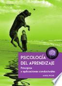 Descargar el libro libro Psicología Del Aprendizaje. Principios Y Aplicaciones Conductuales