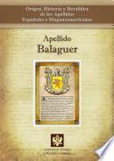 Descargar el libro libro Apellido Balaguer