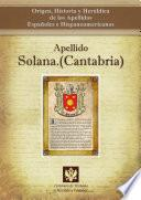 Descargar el libro libro Apellido Solana.(cantabria)