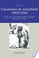 Descargar el libro libro Cuestiones De Actualidad, 1993 1994
