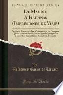 Descargar el libro libro De Madrid Á Filipinas (impresiones De Viaje)