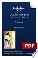 libro Sudamérica Para Mochileros 3. Ecuador